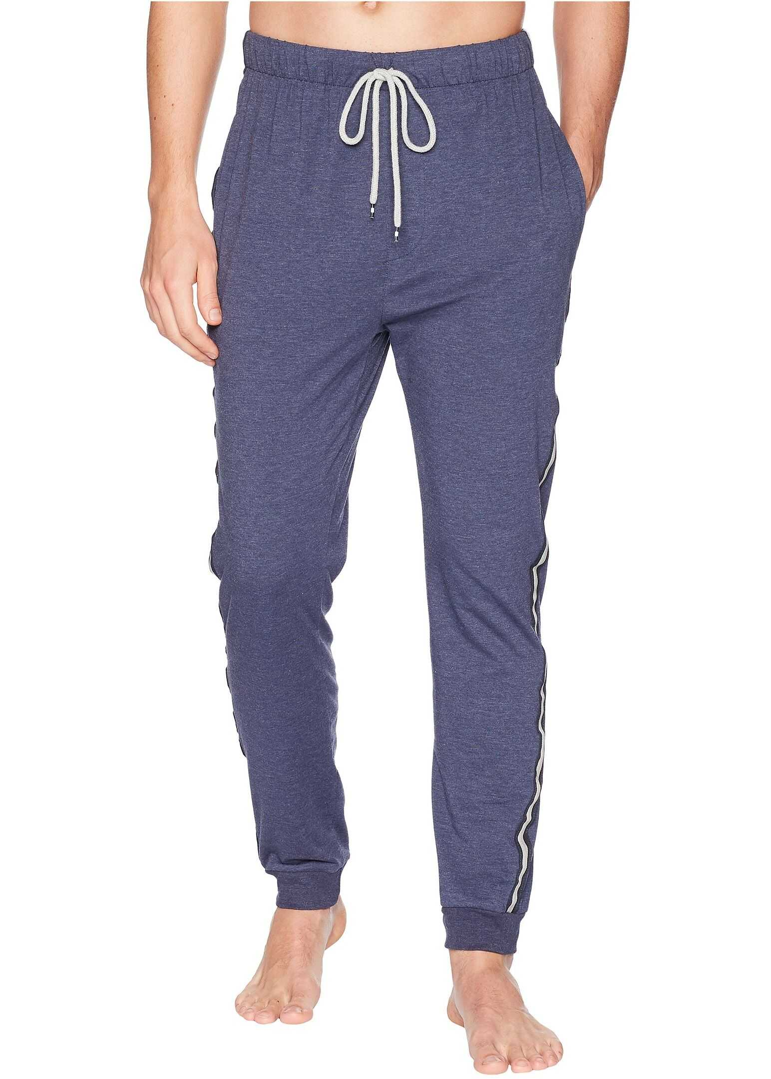 Kenneth Cole Reaction Jogger Pants with Side Tape Navy Heather