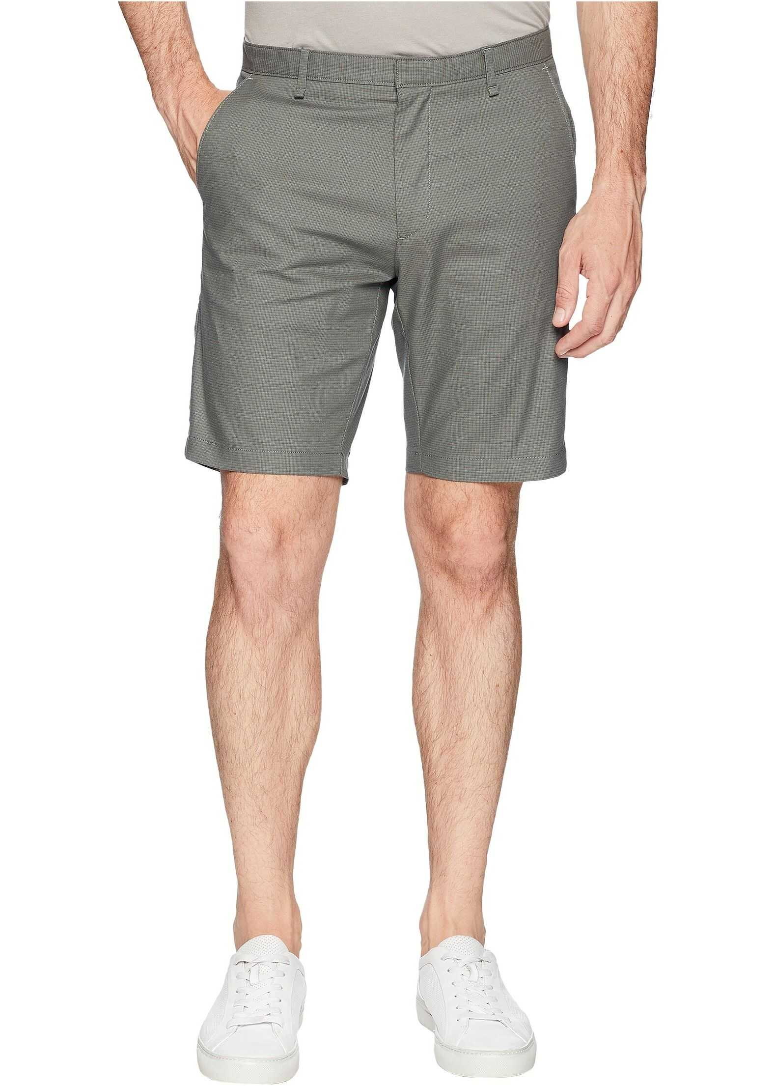 Calvin Klein Textured Flat Front Shorts Oak Leaf