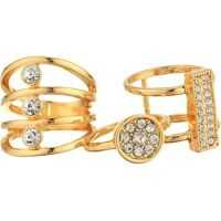 Inele Three-Piece Ring Set with Crystal Stones Femei