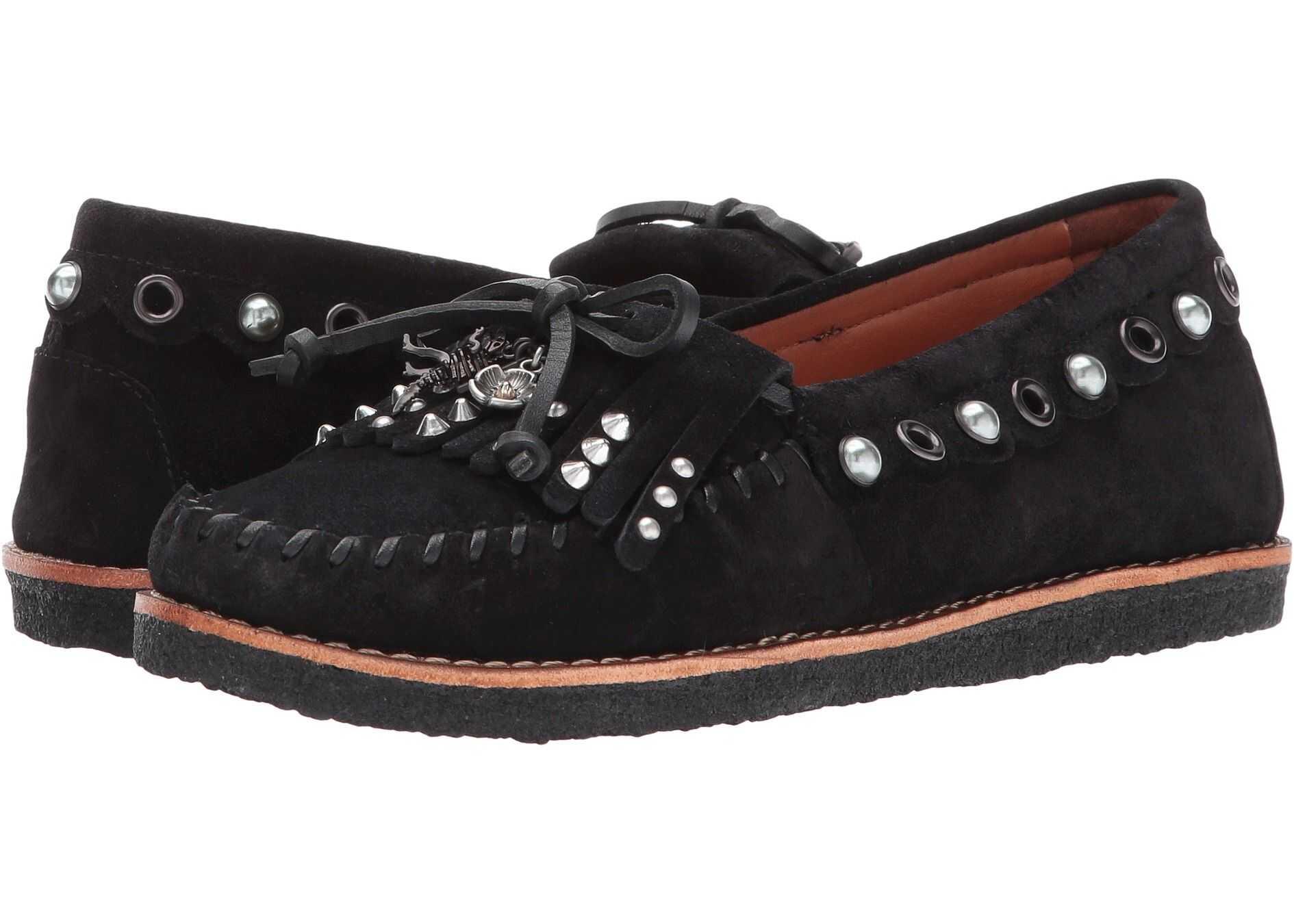 COACH Roccasin Slip-On Black/Black Suede