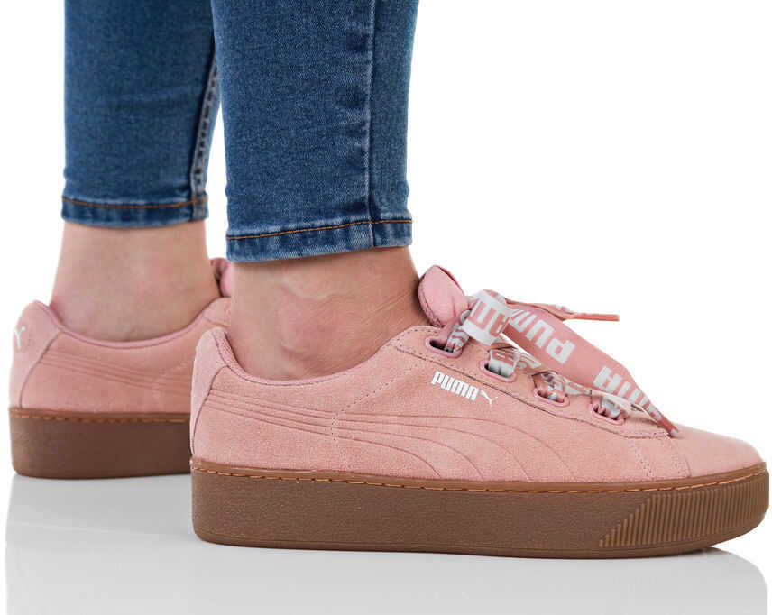 PUMA Vikky Platform Ribbon Pink
