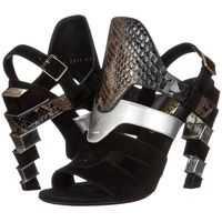 Sandale Suede and Calfskin Sandal With Heel* Femei