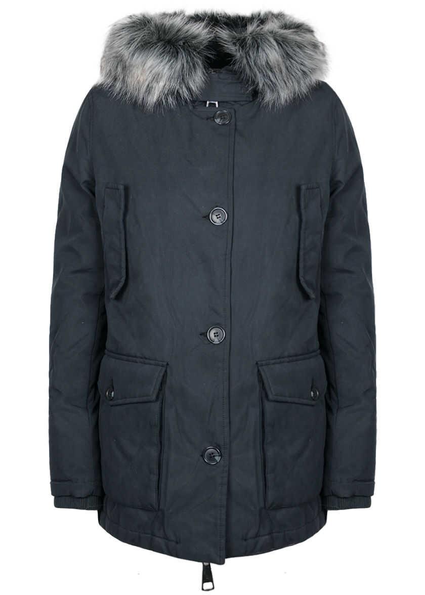 GUESS Down Jacket Niebieski