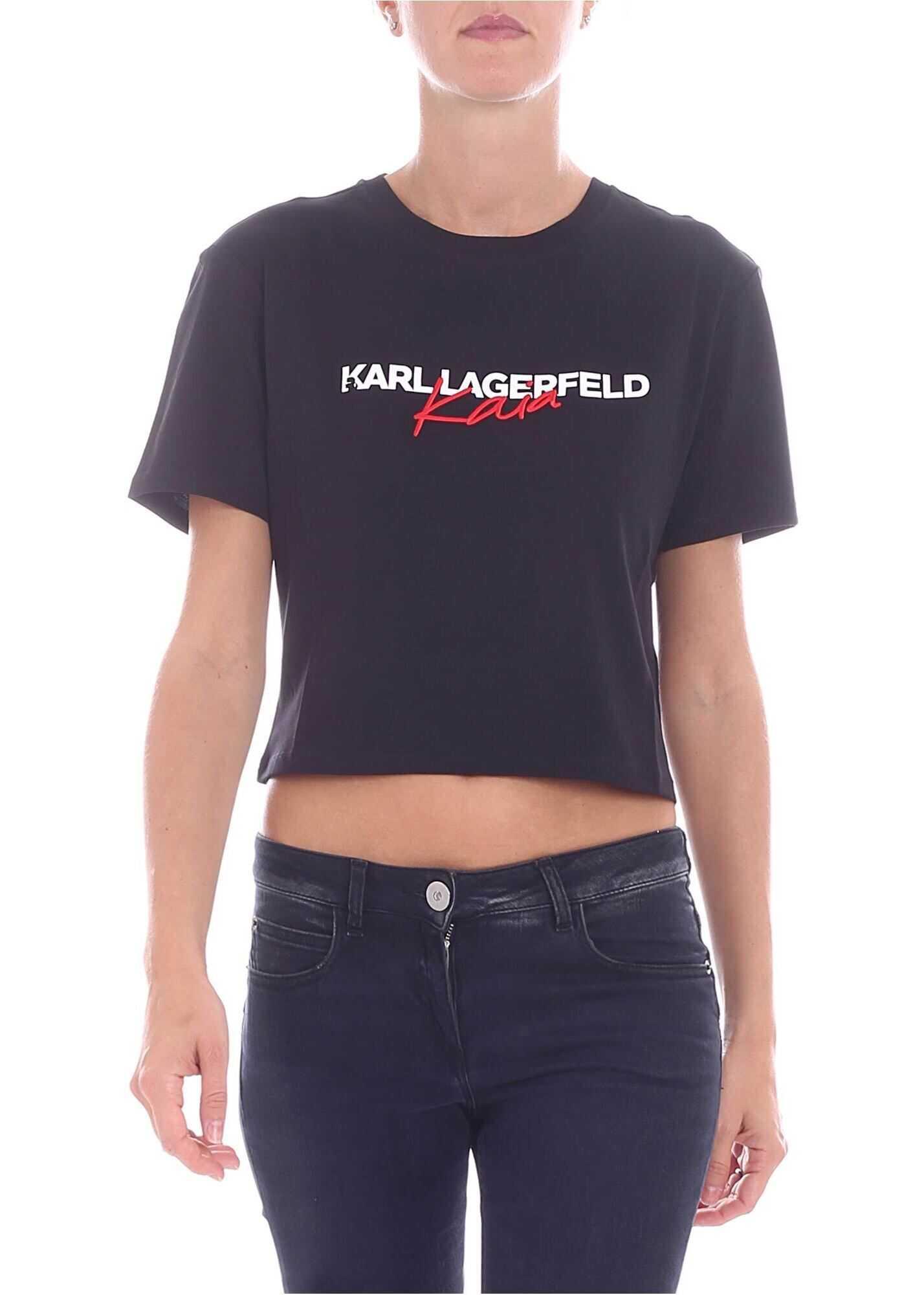"""Karl X Kaia"" Black T-Shirt"