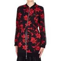 Pulovere Jacket with floral print Femei