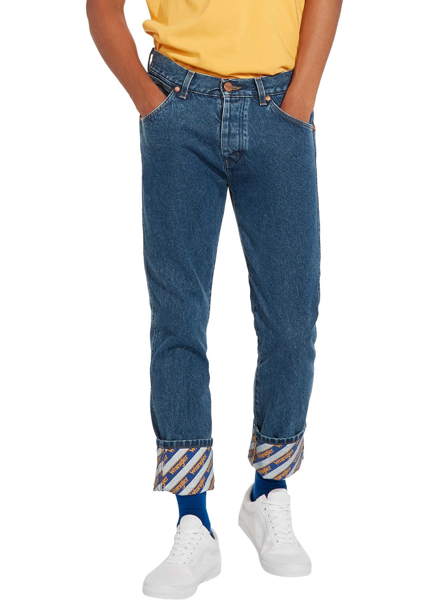 Wrangler B Y Men's Blue Regular Fit Jeans* B&Y Crash Blue