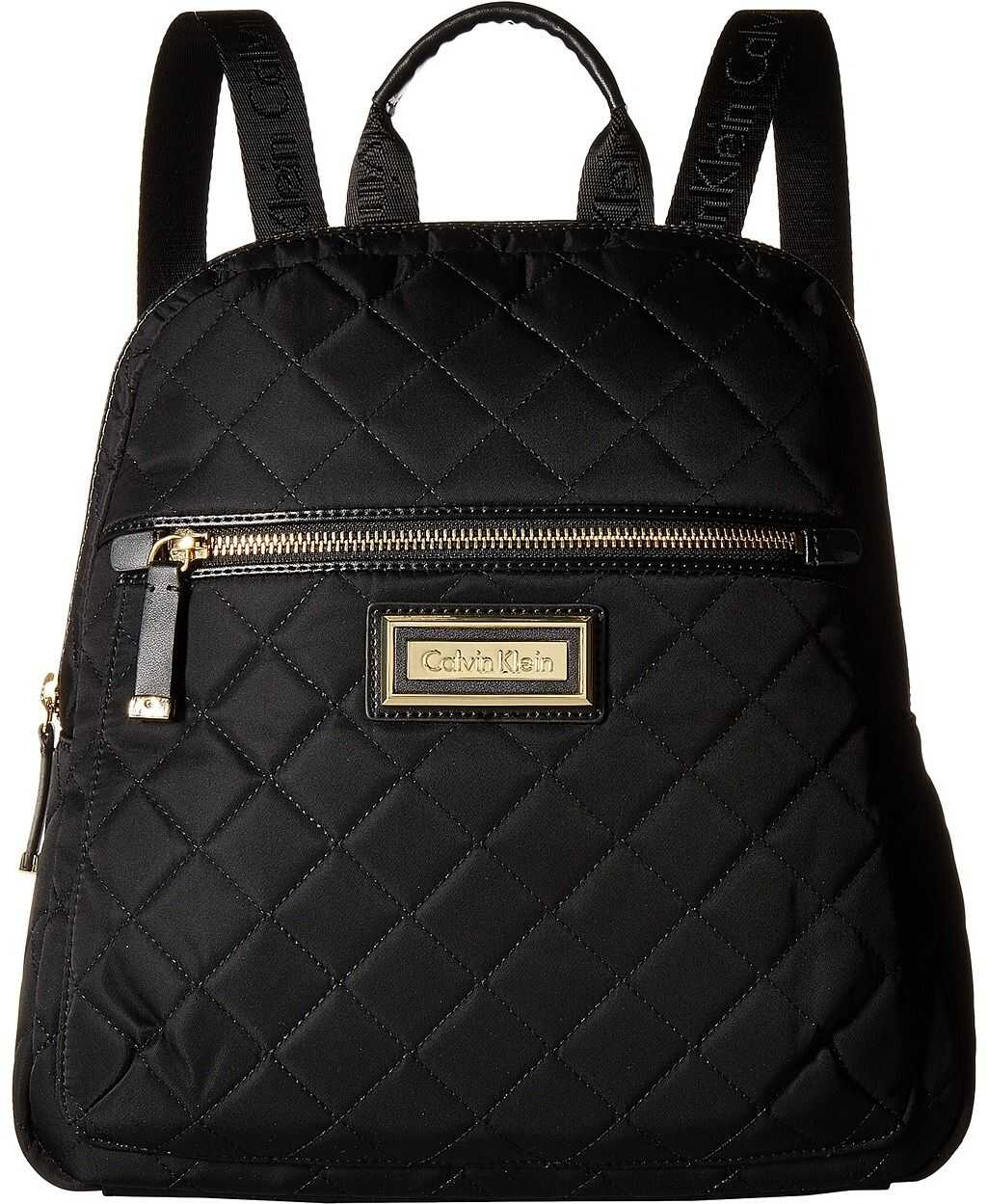 Calvin Klein Quilted Nylon Key Item Backpack Black Quilt