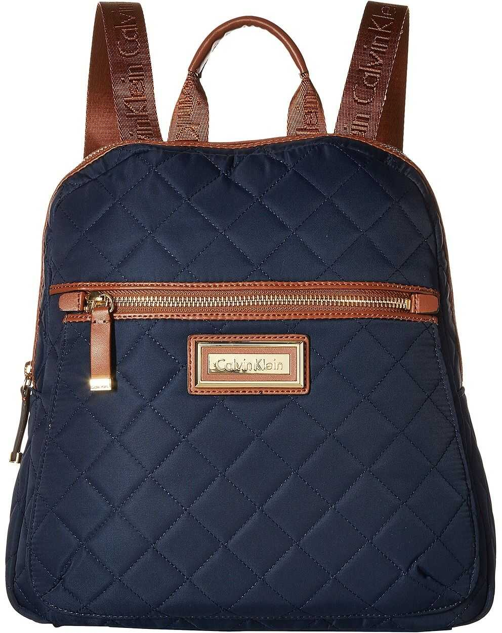 Calvin Klein Quilted Nylon Key Item Backpack Navy