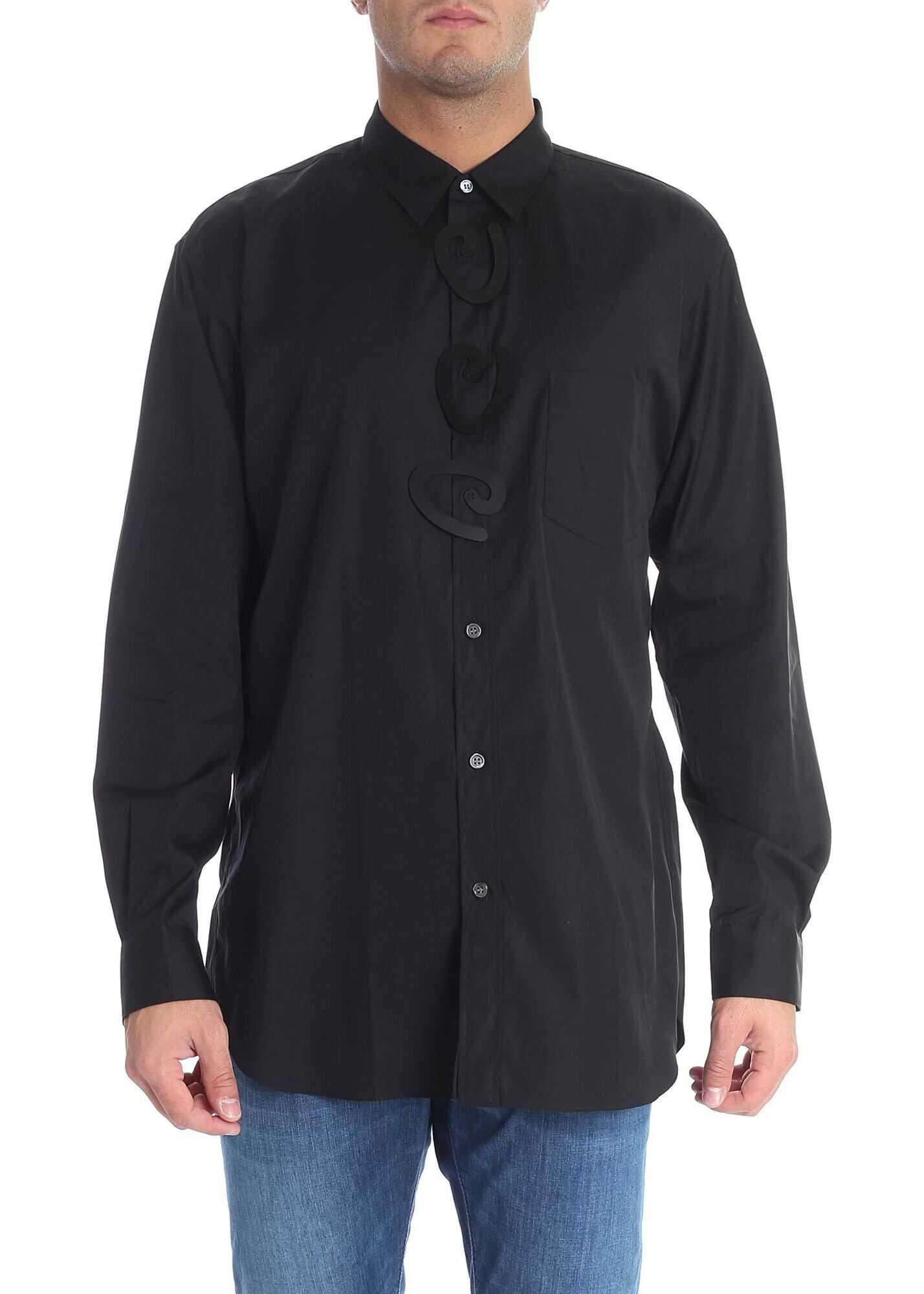 Comme des Garçons Black Shirt With Rigid Inserts Black imagine