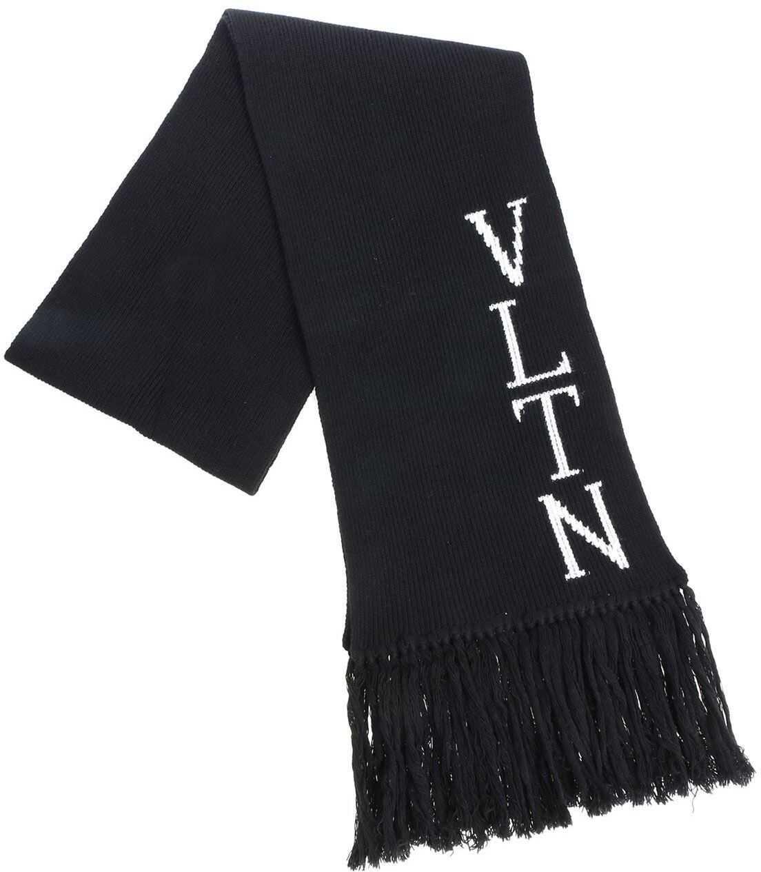 Valentino Garavani Vltn Black Scarf Black