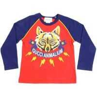 Tricouri Red And Blue T-Shirt With Fox Print Baieti