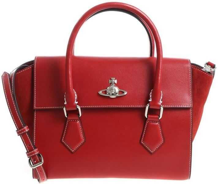 "Genti de mana Dama Vivienne Westwood ""Matilda Medium"" Red Handbag"