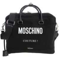 Genti de mana Moschino Black Fabric Handbag With Padlock