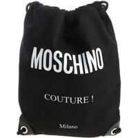 Rucsacuri Moschino Black Drawstring Bag With Fabric Logo