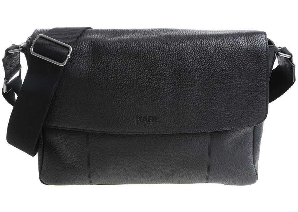 Karl Lagerfeld Black Shoulder Bag With Flap 815904 582457 990 Black imagine b-mall.ro
