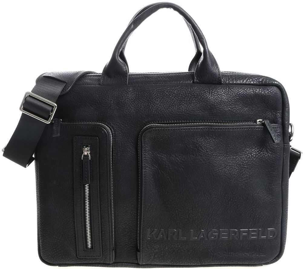 Karl Lagerfeld Black Bag With 3D Logo 815902 582455 970 Black imagine b-mall.ro