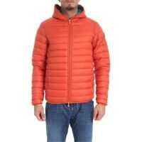 Geci de Puf Orange Hooded Down Jacket Barbati
