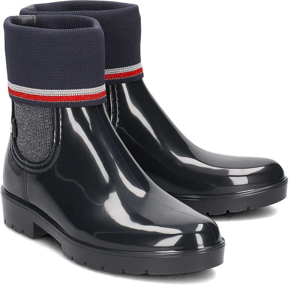 Tommy Hilfiger Knitted Sock Rain Granatowy