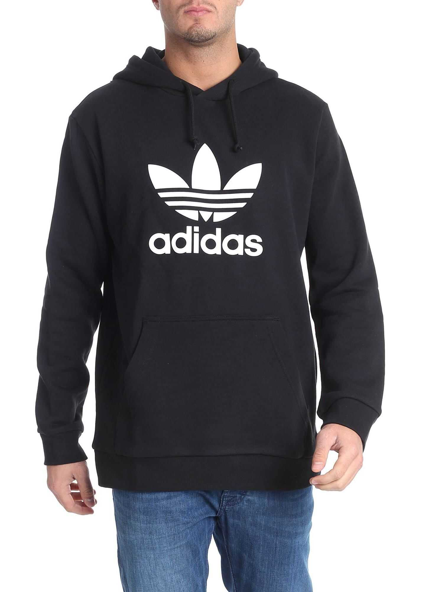 adidas Adidas Originals Trefoil Swatshirt In Black Black