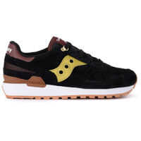 Tenisi & Adidasi Saucony Shadow Black Suede And Golden Leather Sneaker
