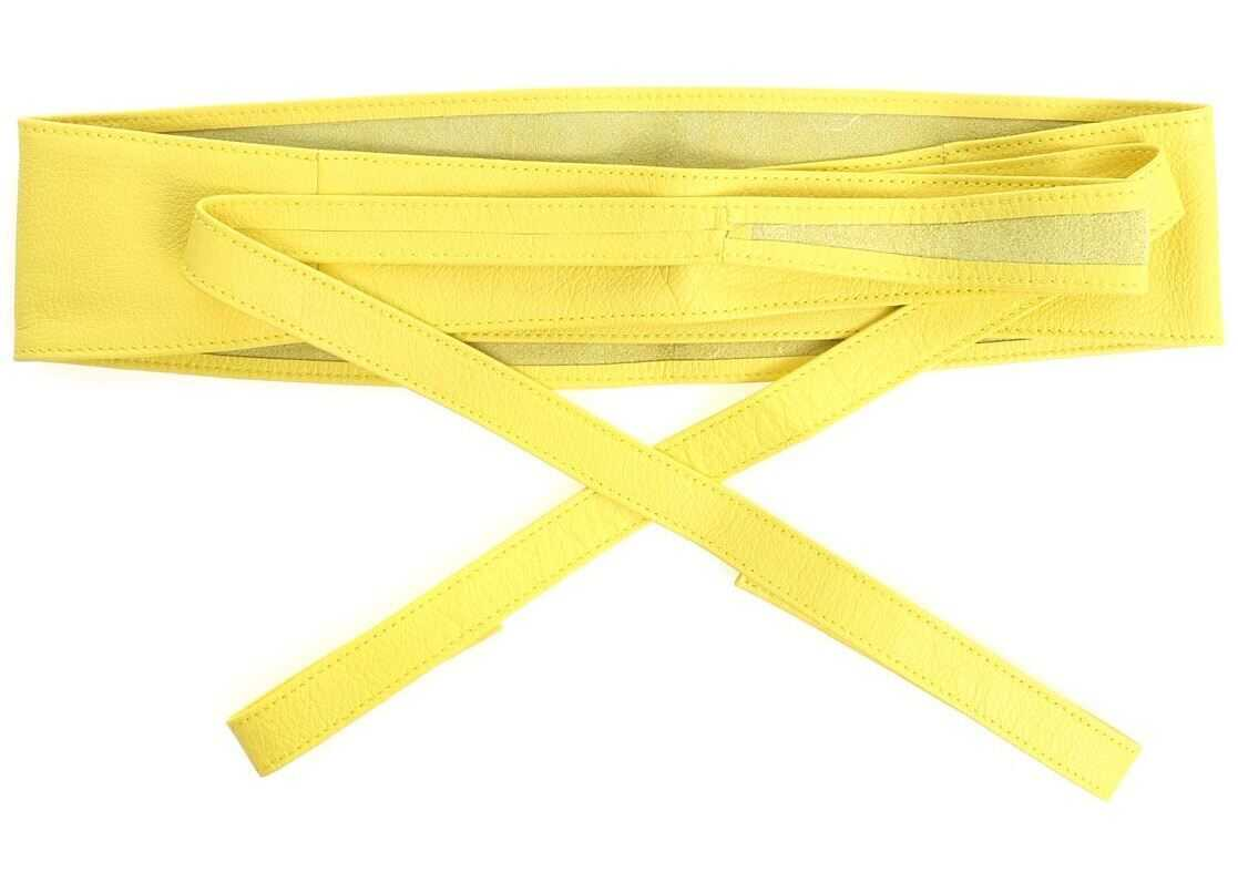 Ki6? Yellow Leather Belt Yellow
