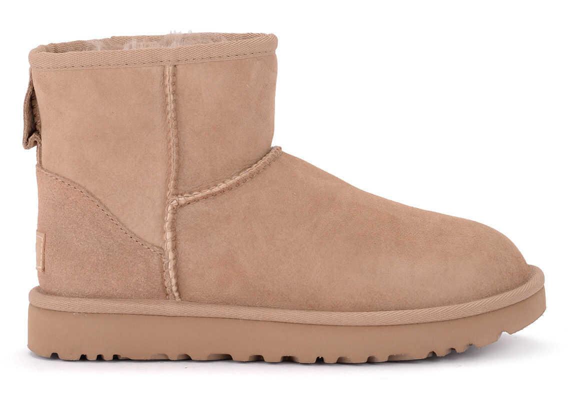 UGG Classic Ii Mini Suede Sheepskin Ankle Boots Brown