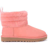 Ghete & Cizme UGG Fluff Mini Pink Suede Ankle Boots