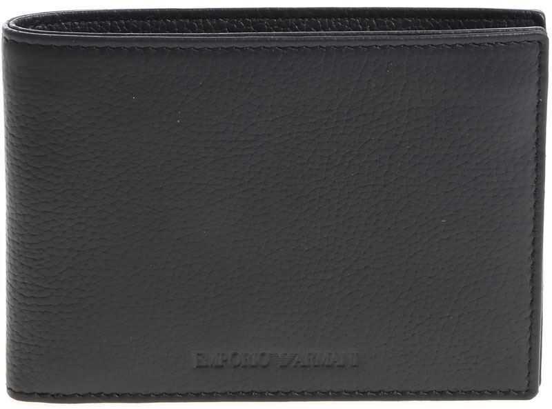 Emporio Armani Black Wallet With Logo Black