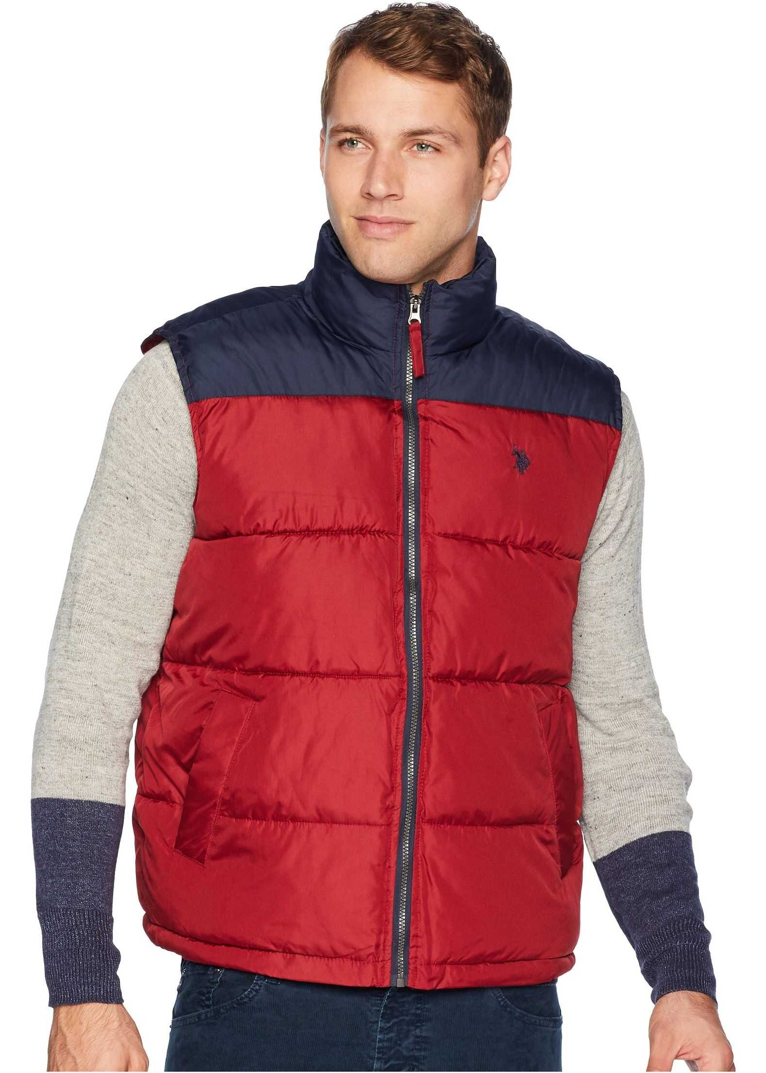 U.S. POLO ASSN. Color Block Vest University Red