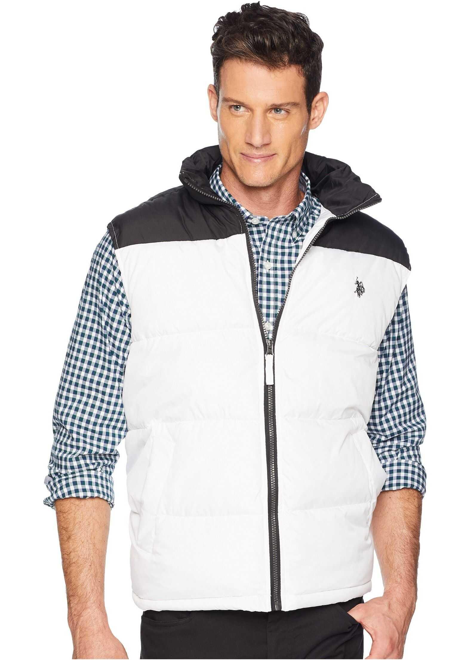 U.S. POLO ASSN. Color Block Vest White