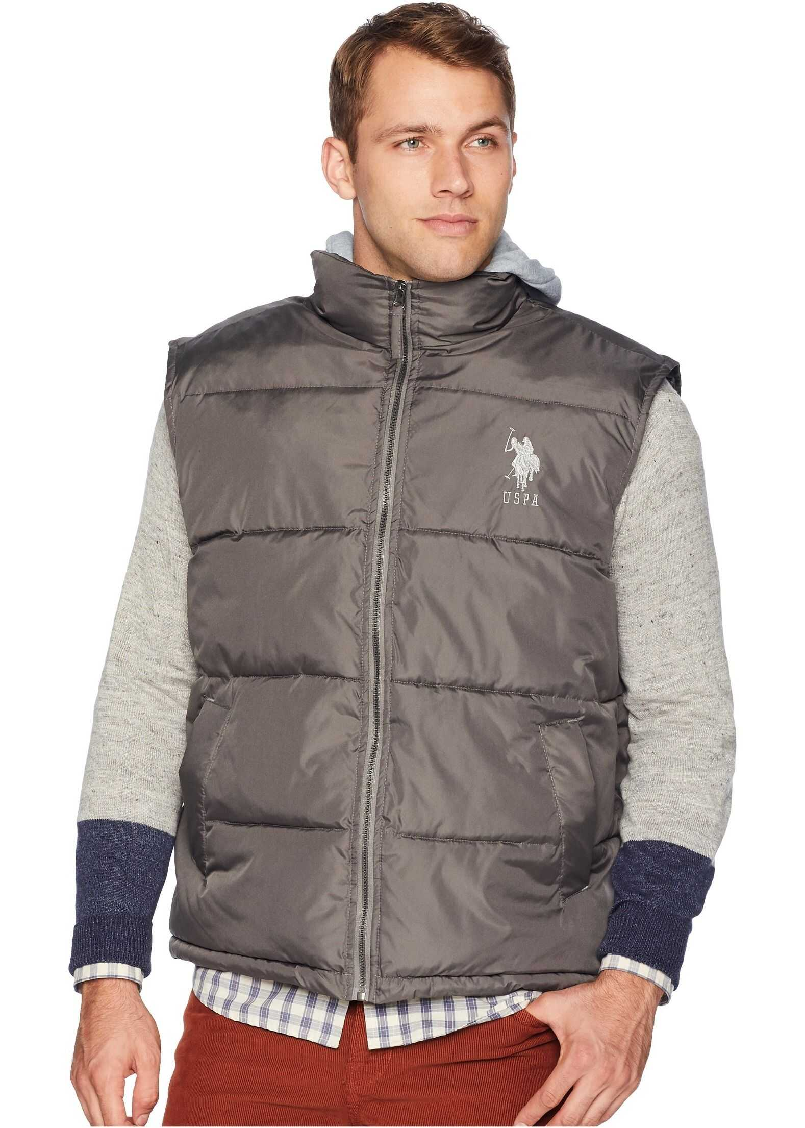 U.S. POLO ASSN. Hooded Basic Vest Castlerock