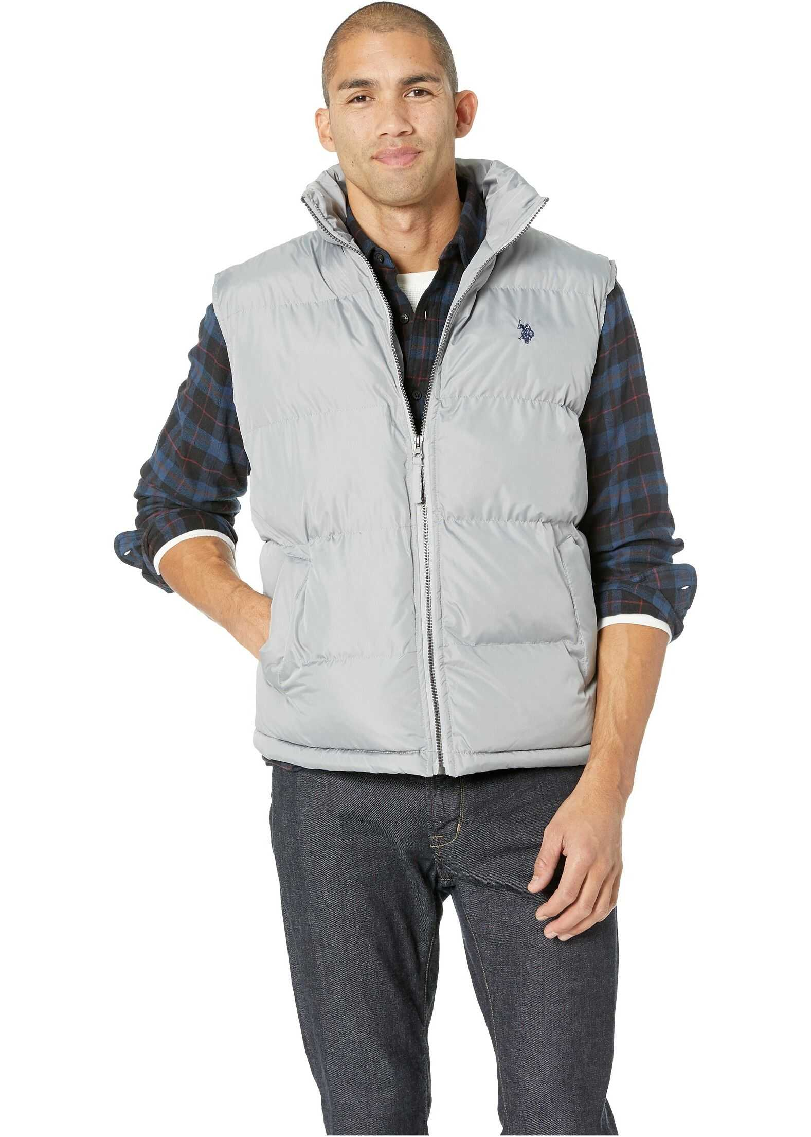 U.S. POLO ASSN. Basic Vest Small Horse Vapor Grey