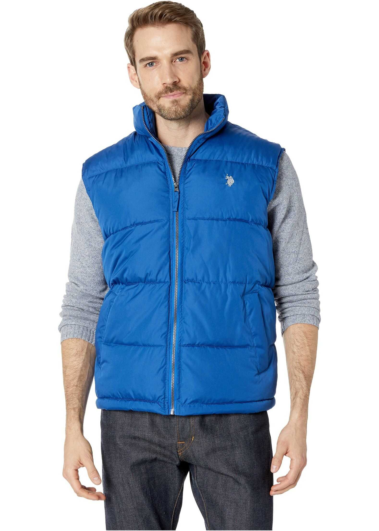U.S. POLO ASSN. Basic Vest Small Horse Blue Whale