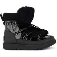 Ghete & Cizme Highland Black Leather, Rubber And Sheepskin Ankle Boots Femei