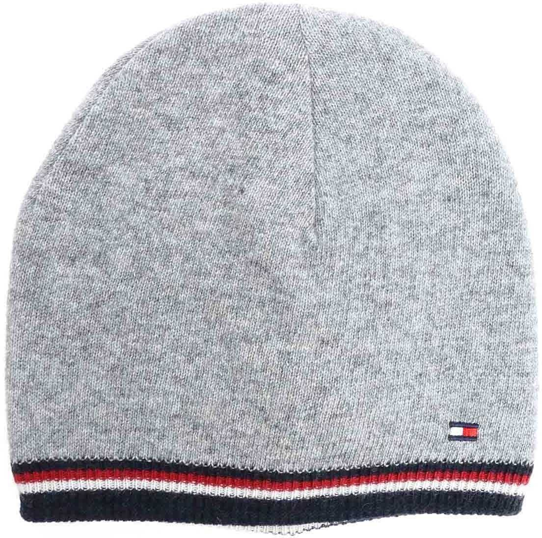 Tommy Hilfiger Reversible Gray Beanie Gray