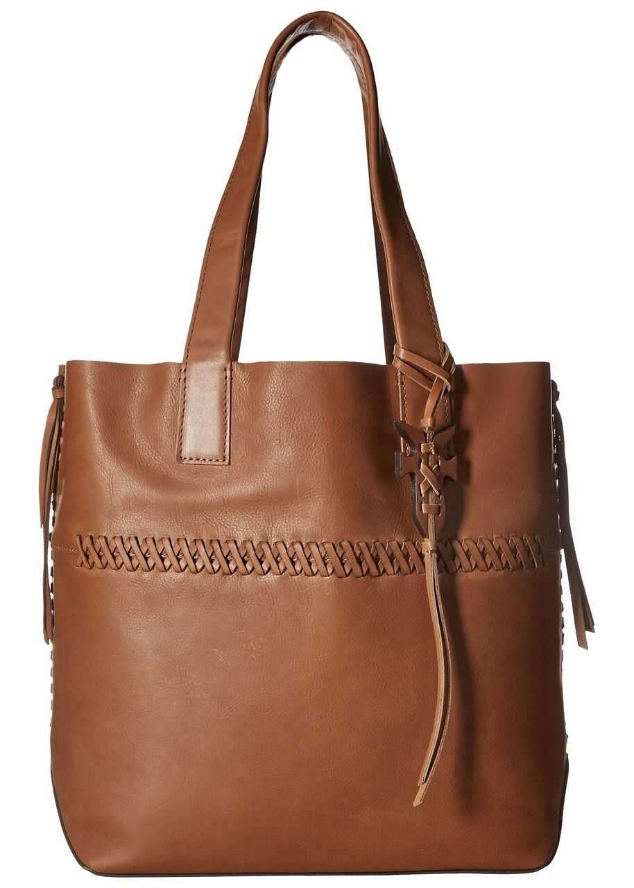 Frye Carson Whipstitch Tote Caramel Burnished Full Grain