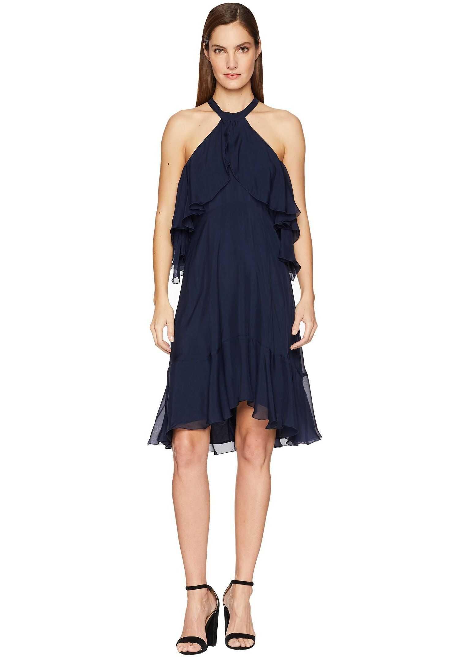 Nicole Miller Scalloped Dress Black Euforia Mall