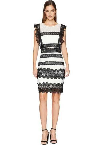 Rochii Elegante Nicole Miller Mini Dress Blackivory Femei