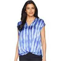 Bluze V-Neck High-Low Hem Top Femei