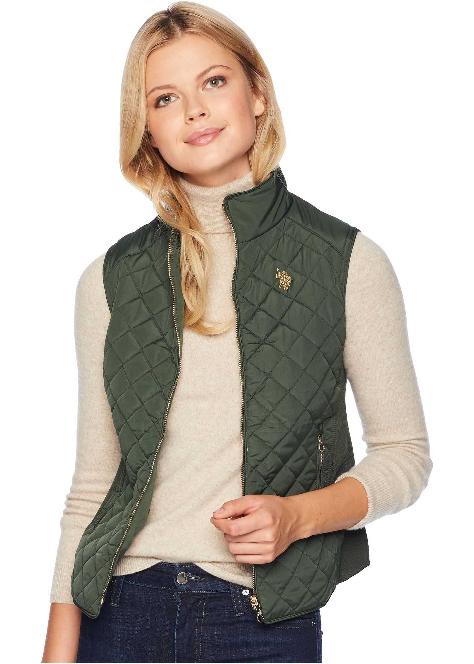 U.S. POLO ASSN. Puffer Vest Olive