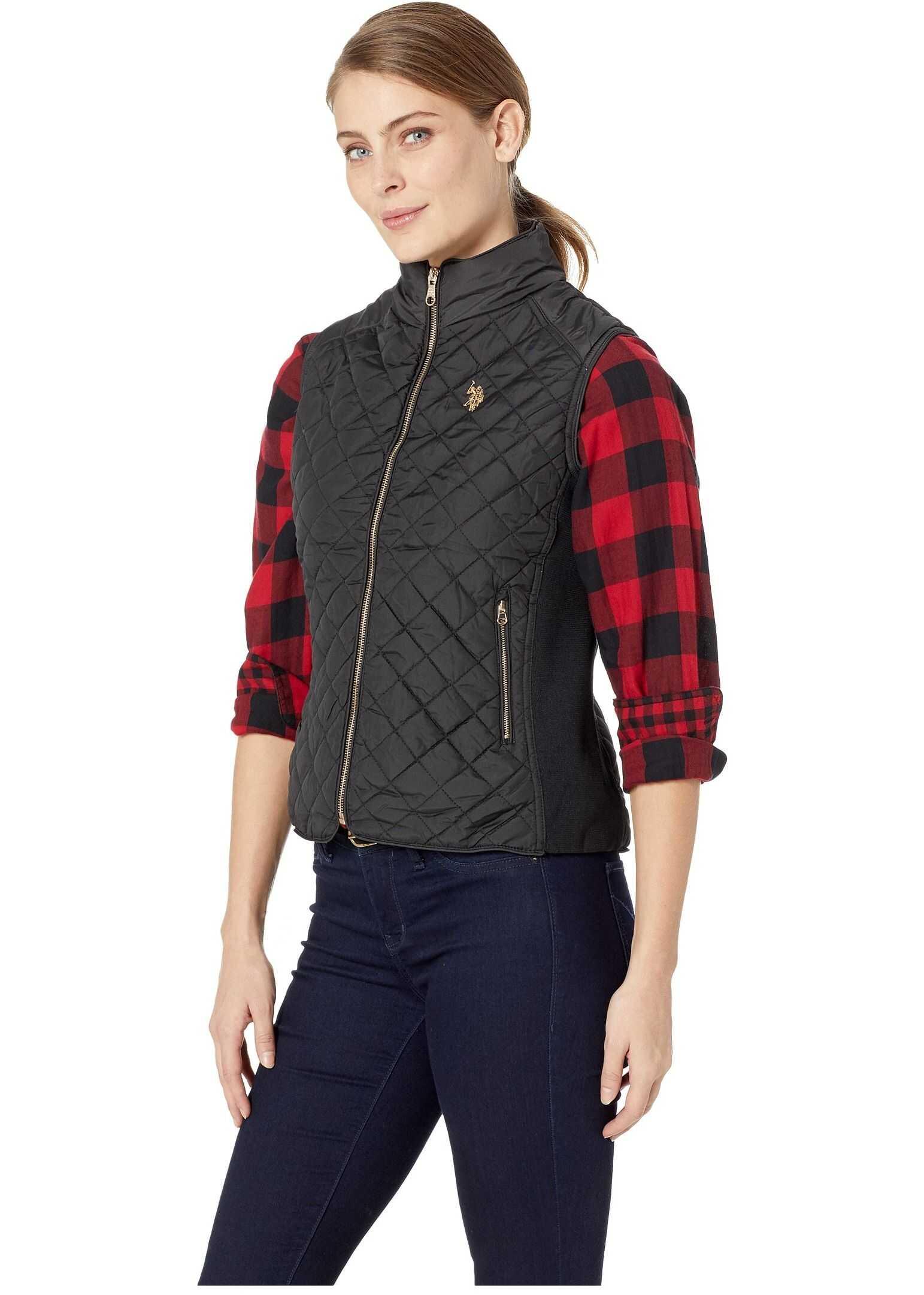 U.S. POLO ASSN. Puffer Vest Black