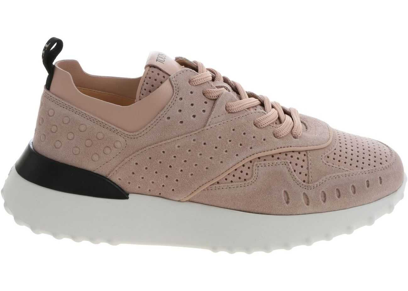 TOD`S Pink Suede Sneakers Pink