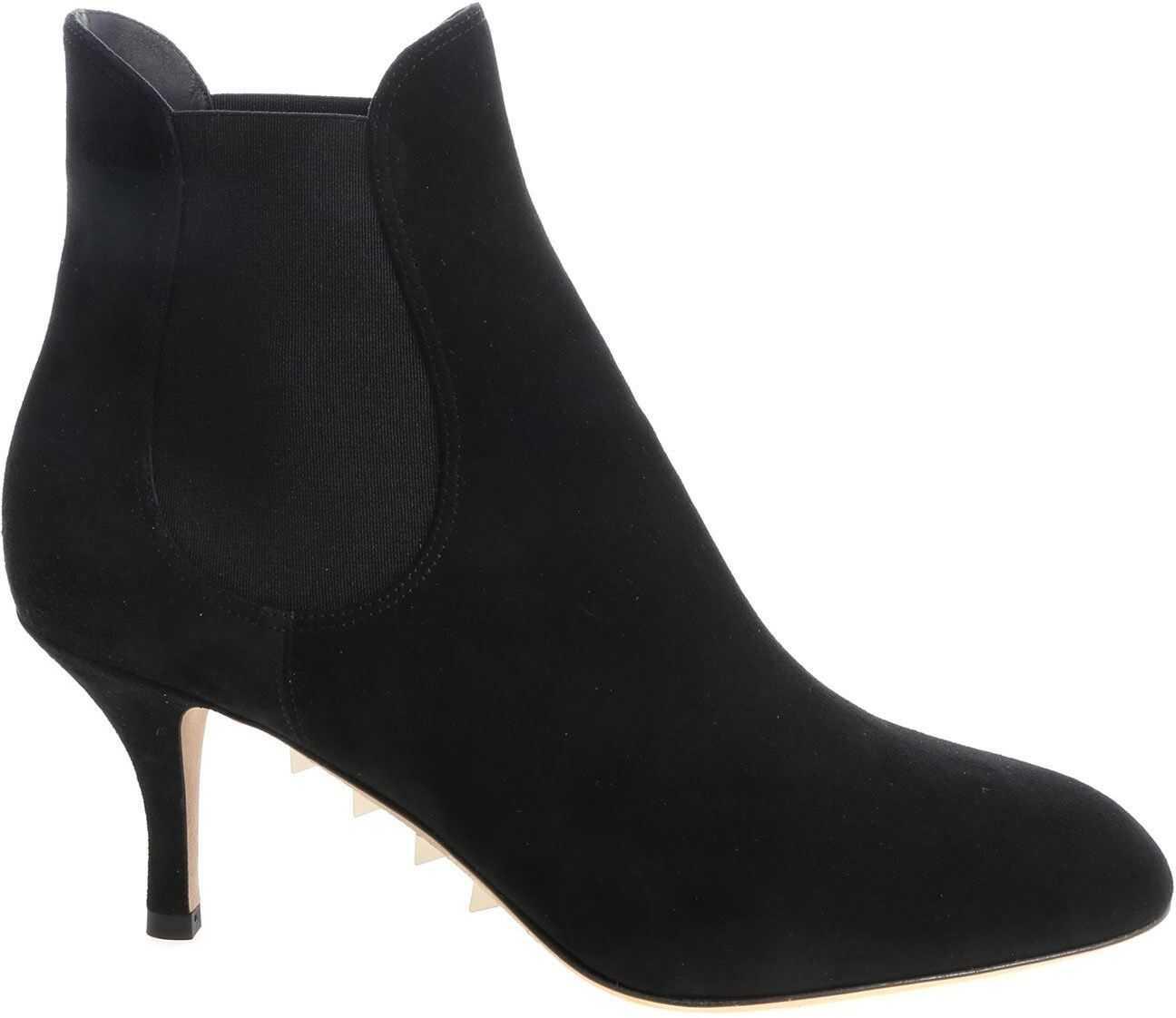 Valentino Garavani Black Ankle Boot With Elastic Bands Black
