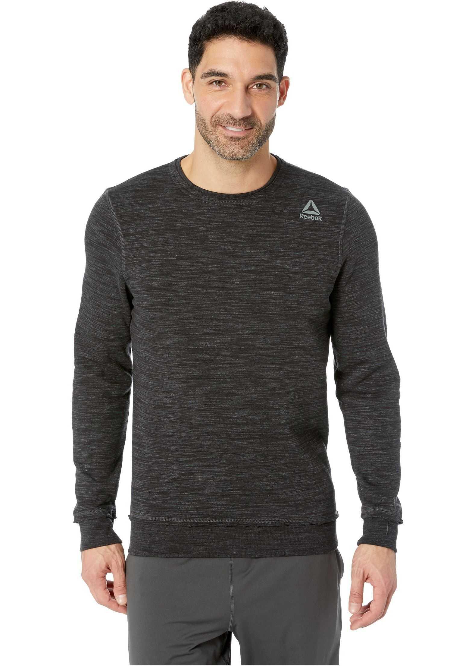 Reebok Elements Marble Melange Crew Sweatshirt Black