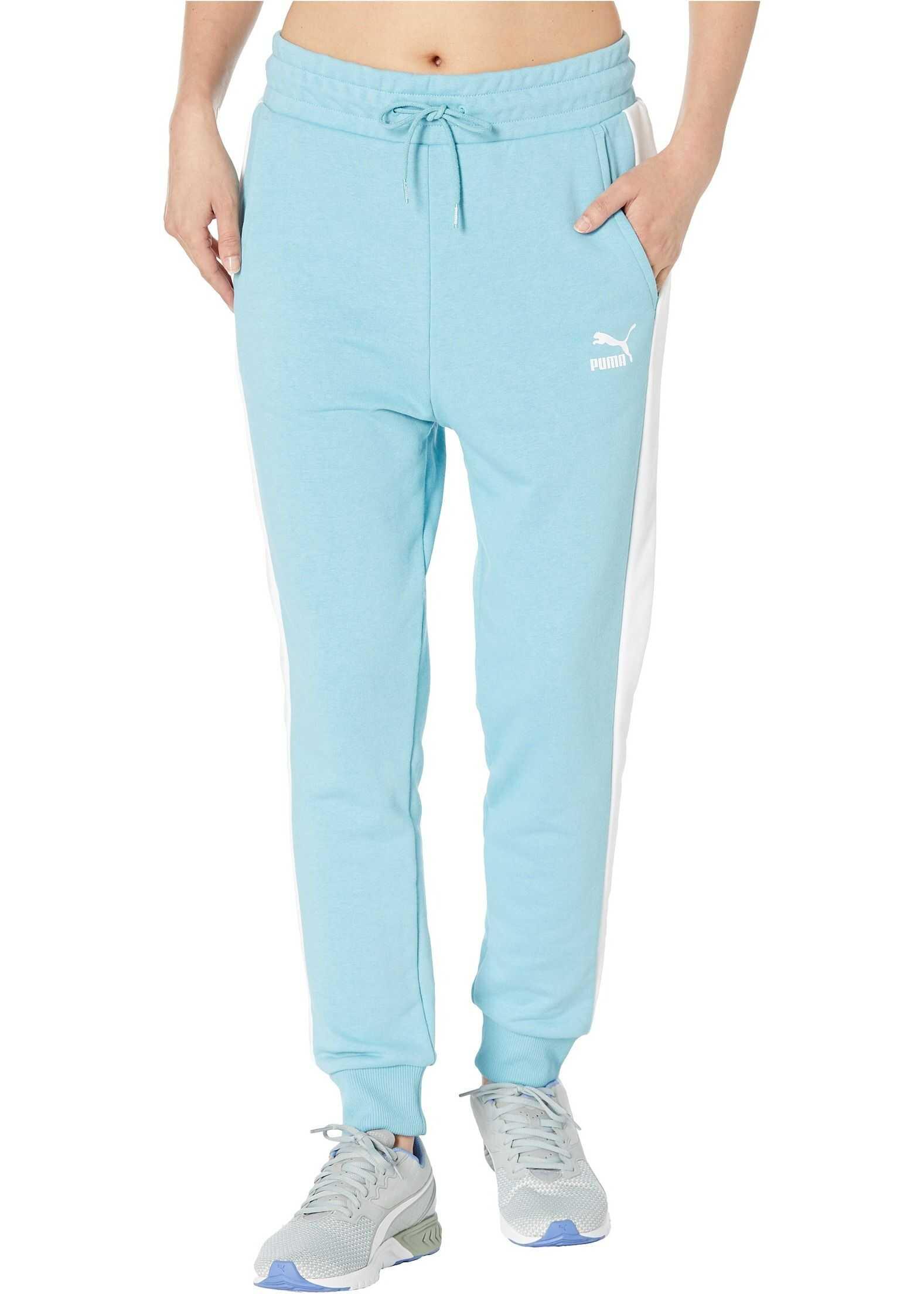 PUMA Classics T7 Track Pants Milky Blue