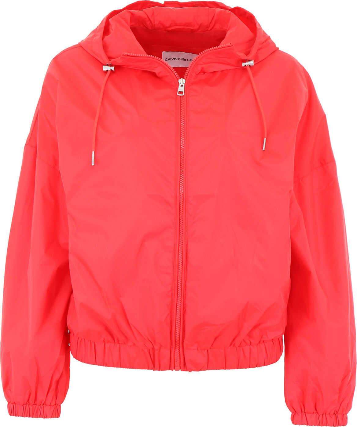 Calvin Klein Jeans Nylon Jacket TOMATO