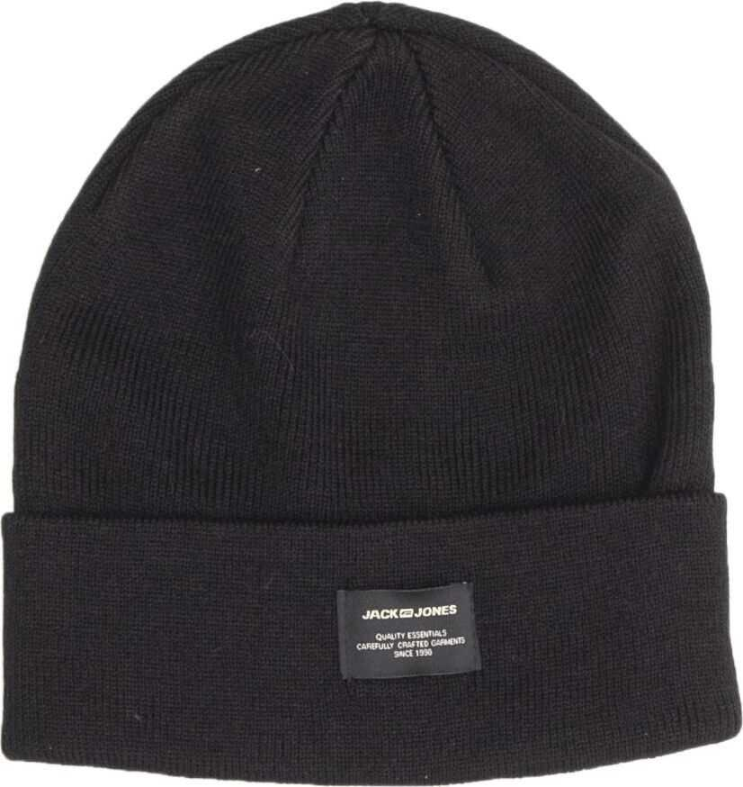 JACK & JONES 12092815Black Acrylic Hat BLACK