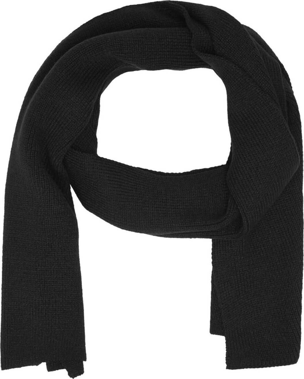 JACK & JONES 12098582Black Acrylic Scarf BLACK