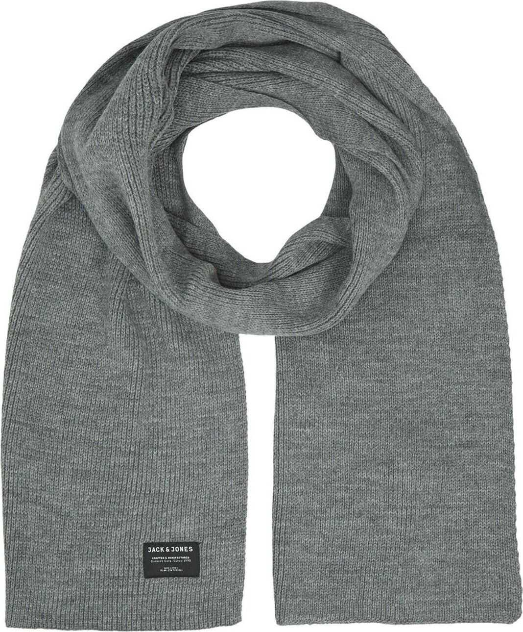 JACK & JONES 12098582Grey Acrylic Scarf GREY