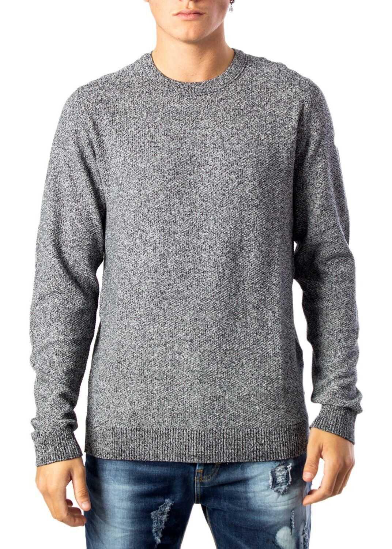 JACK & JONES 12137171Grey Cotton Sweater GREY